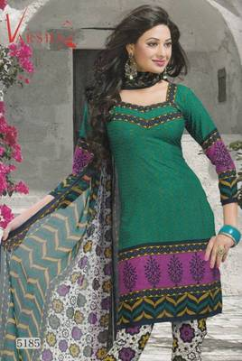 Crepe dress material elegant designer unstitched salwar suit d.no 5185
