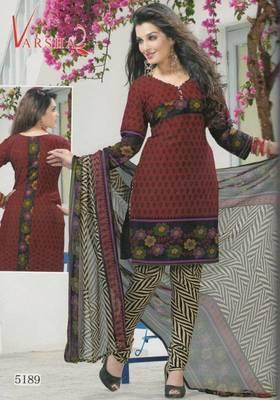 Crepe dress material elegant designer unstitched salwar suit d.no 5189