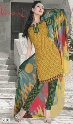 Crepe dress material elegant designer unstitched salwar suit d.no 5191