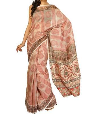 Supernet cotton banarasi aanchal border saree