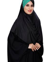 Justkartit Women Lycra Plain Tie Knot Turban Style Instant Hijab Scarf