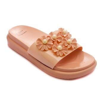 TRENDS & TRADES Peach Slide Sandal For Women