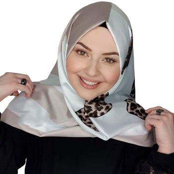 Justkartit Animal Printed Big Jumbo Satin Silk Square Scarf Hijab