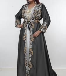 Multicolor embroidered georgette islamic-kaftans