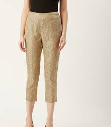 Pinksky Gold plain polyester trousers