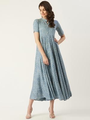 Pinksky White woven viscose rayon maxi-dresses
