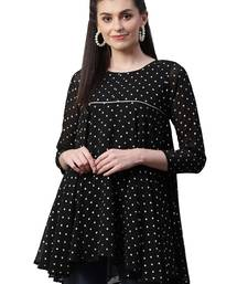 Black printed georgette tunics