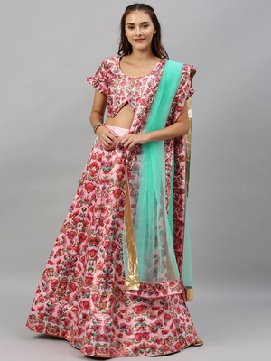Light-pink digital print