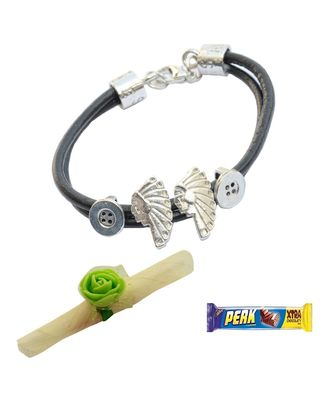 Tribal Black Bracelet cum Rakhi For Brother