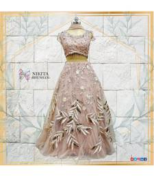 This beautiful lehenga is made on net with gorgeous handwork