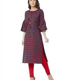 women's  multicolored  woven cotton straight kurta
