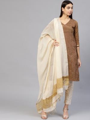 Brown printed Silk stitched kurta sets