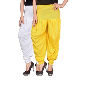 Multicolor plain viscose leggings