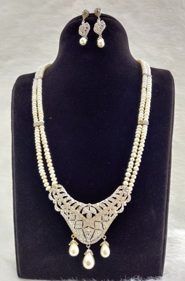 Natural Fresh Water Pearl Set With Certificate of Authenticity