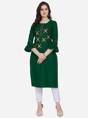 Green Color Straight Kurta