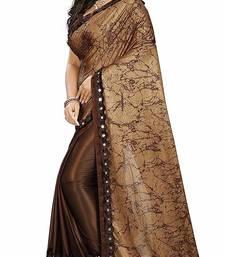 Women's Brown Dhupian Foil Designer Saree