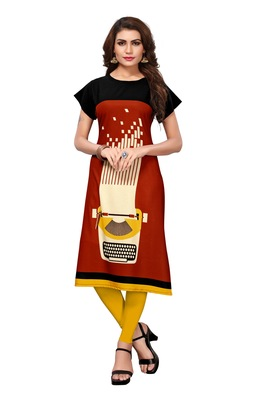 Women's Festive Wear Heavy Crepe Kurti