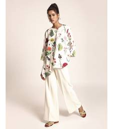 Payal Singhal Ivory Colour Printed Art Crepe Tunic