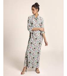 Payal Singhal Blue Printed Art Crepe Shirt Dress
