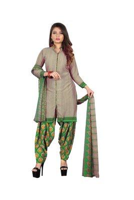 Green printed synthetic salwar