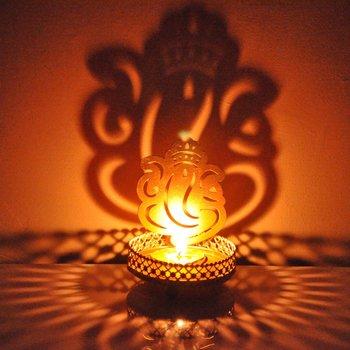 Sadow Ganesha Tealight Candle Holder