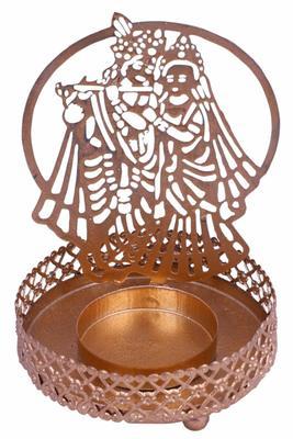 Radha Krishna Shadow Tealight Candle Holder