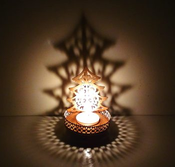 Shadow Christmas Tree Tealight Candle Holder