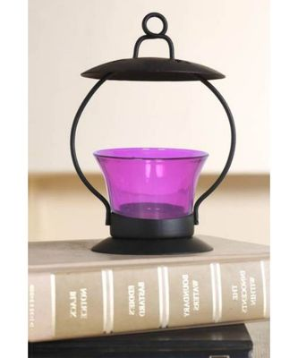 Purple Glass Tealight Candle holder (3.5 X3.5 X 5.3 Inch)