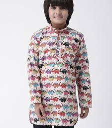 Multicolor printed cotton boys-kurta