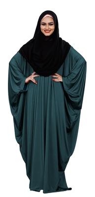 Justkartit Women's Casual Wear Plain 2 Way Wearable Lycra Abaya Burkha (Aqua)