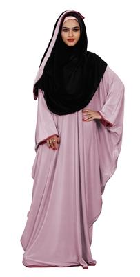 Justkartit Women's Outdoor Wear Plain 2 Way Wearable Lycra Abaya Burkha (Baby Pink)