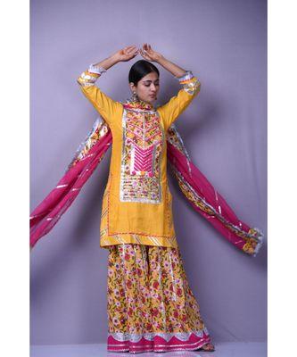 Yellow Sabah Suit set