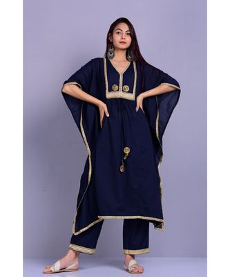 Navy Blue Kaftan set