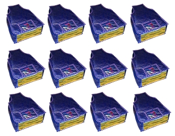 atorakushon® Parashute Fabric Blouse Cover Garments Wardrobe Organizer Pack of 12 (Blue)