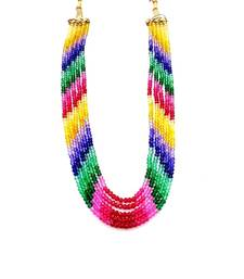 Buy Designer Multi Colour Rainbow Strand Necklace online