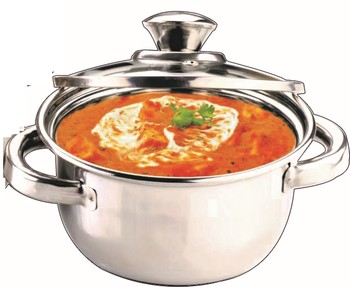 Kitchen krafts 1pc Dutch oven - 20 cm with glass lid, induction compatiable, cook and serve
