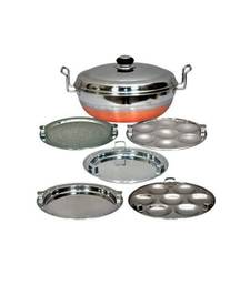 Kalash 5 in 1 Copper bottom Multi kadai with steel Lid