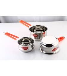 Kitchen Krafts 3pcs Belly  Saucepan with handle (16,18,20cm)