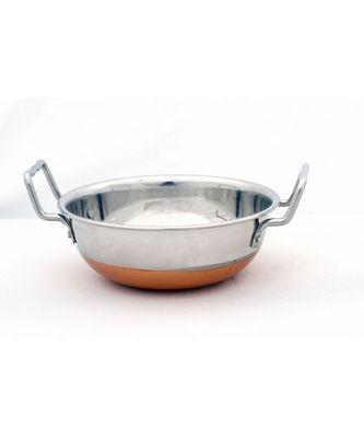 "Kitchen Krafts Copper bottom Kadai 10"""