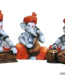 Ganesha Playing Instruments (Set of 3)