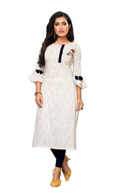 White Striped Cotton kurti