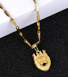 Gold Plated designer Pendent Chain For Man And Boy