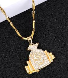 Exclusive  Gold Plated Daimond Pendent Chain For Man And Boy