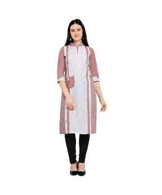 Pink plain Cotton kurtis