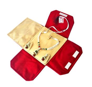 atorakushon® Velvet Necklace Pouch Jewellery Earring Organizer Traveling Kit for Women and Girls Pack 1 (Maroon)