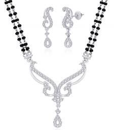 Buy Silver Cubic Zirconia mangalsutra mangalsutra online