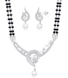 Buy Silver Cubic Zirconia mangalsutra mangalsutra online
