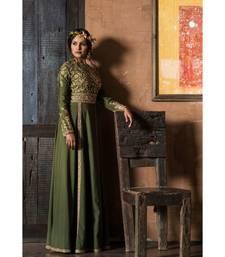 Aarbee Mehendi zardosi embroidered gown