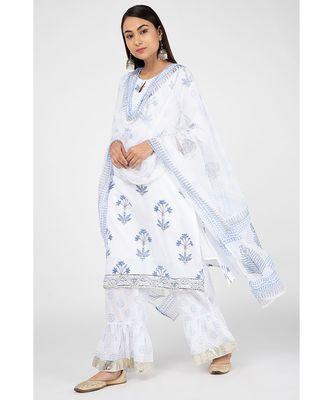 Cloud White Suit Set