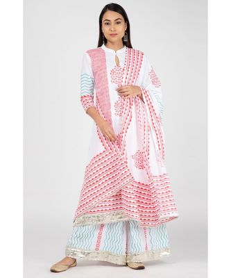 Red Tribe Cotton Suit Set